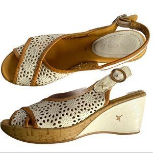 Pikolinos peep-toe sling-back Wedge sandals EU39